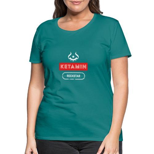 KETAMIN Rock Star - White/Red - Modern - Women's Premium T-Shirt