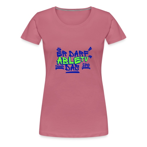 AbleTV Grafitti Logo Marken Shirt (Er Darf Das) - Frauen Premium T-Shirt