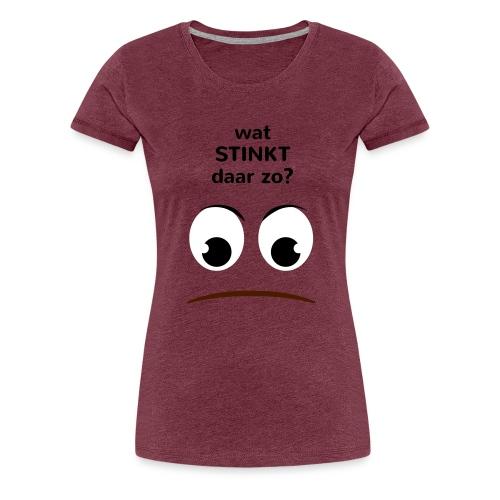 Grappige Rompertjes: Wat stinkt daar zo - Vrouwen Premium T-shirt