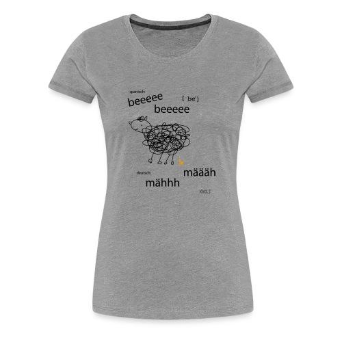 Tierlaut zweisprachig - Frauen Premium T-Shirt