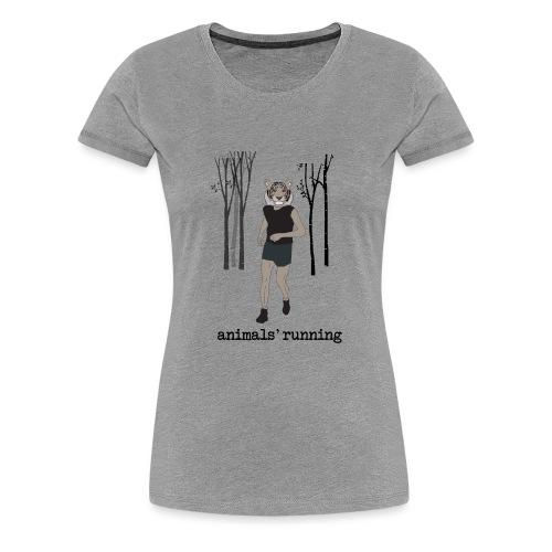Tigre gris running - T-shirt Premium Femme