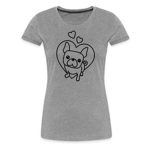 Frenchie Love - Frauen Premium T-Shirt