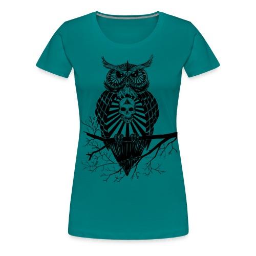 Hibou Psychédélique - T-shirt Premium Femme