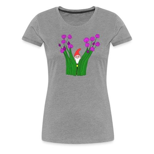 Schnittlauch-Zwerg - Frauen Premium T-Shirt