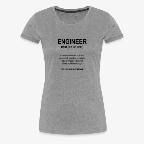 Engineer Def. 1 (Black) - T-shirt Premium Femme