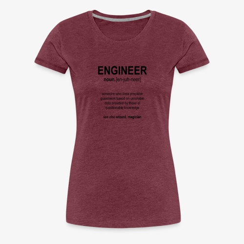 Engineer Def. 1 (Black) - T-shirt Premium Femme