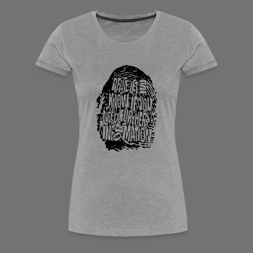Fingerprint DNA (black) - Frauen Premium T-Shirt