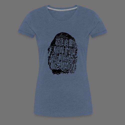 Fingerprint DNA (black) - Women's Premium T-Shirt