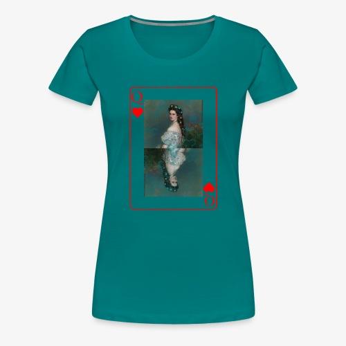 Kaiserin Sissi spielkarte Österreich - Frauen Premium T-Shirt
