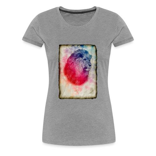 retrato vintage leon - Camiseta premium mujer