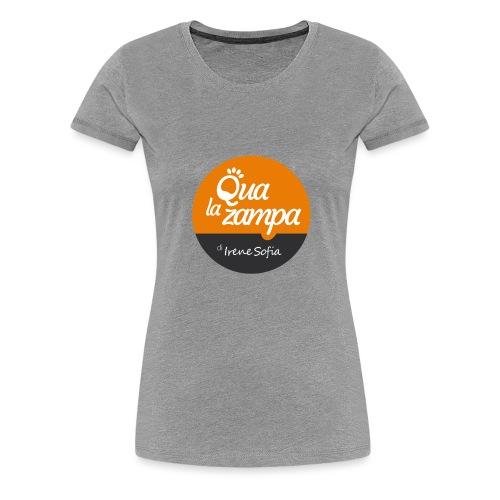 Logo Qua la Zampa - Maglietta Premium da donna