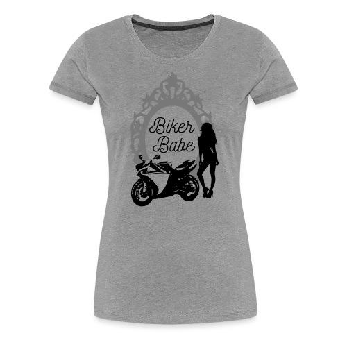 Biker Babe – Racing bike - Naisten premium t-paita