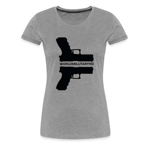 WorldMilitaryHD Glock design (black) - Vrouwen Premium T-shirt