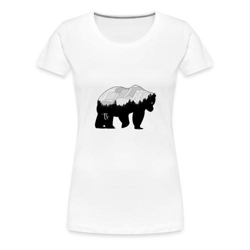 Geometric Mountain Bear - Maglietta Premium da donna