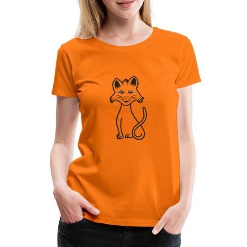 gatto nero - Maglietta Premium da donna