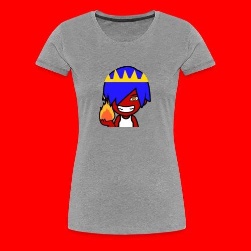 HeroCraftZ Holder en flamme - Premium T-skjorte for kvinner