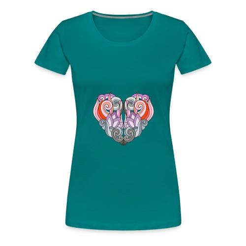 CUORE MANDALA - Maglietta Premium da donna