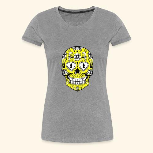CALAVERA AMARILLA - Camiseta premium mujer