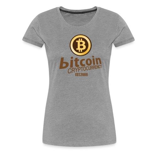 Bitcoin Cryptocurrency - Vrouwen Premium T-shirt