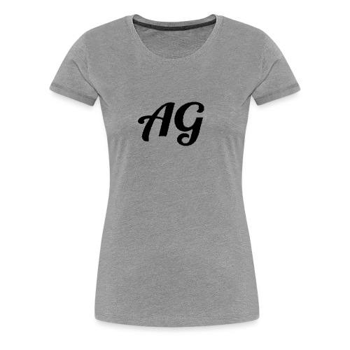 Zwarte Letters - Vrouwen Premium T-shirt
