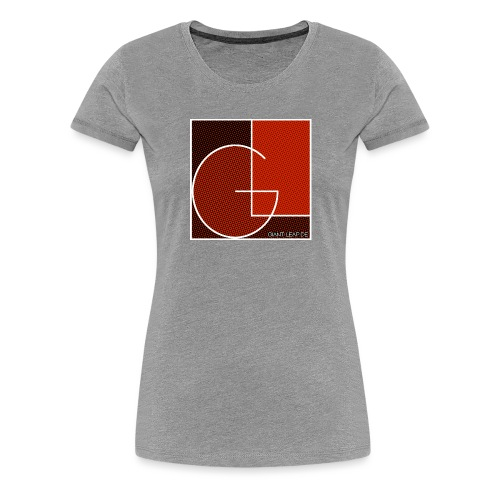 formig raster rot - Frauen Premium T-Shirt