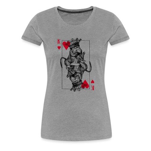 Herz Affenkönig - Frauen Premium T-Shirt
