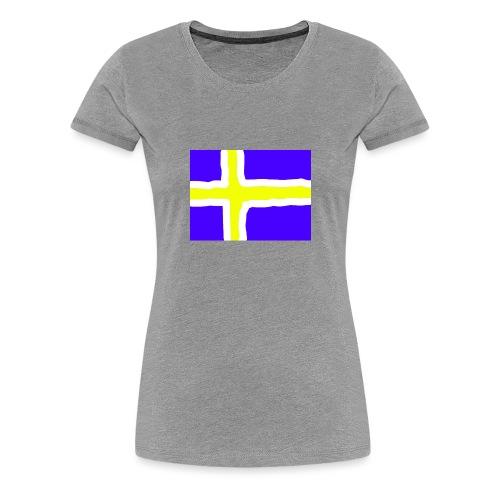 SwedishFlag Caps - Premium T-skjorte for kvinner