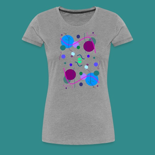 Fröhliche Grafik - Frauen Premium T-Shirt