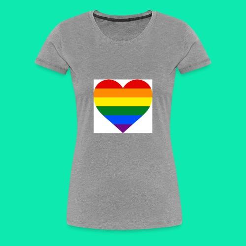 Pride- Heart - Women's Premium T-Shirt