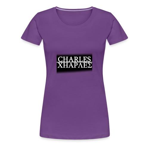 CHARLES CHARLES BLACK AND WHITE - Women's Premium T-Shirt