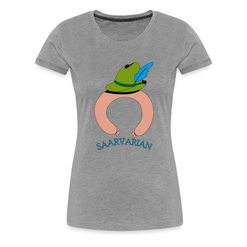 Saarvarian mit Schriftzug - Frauen Premium T-Shirt