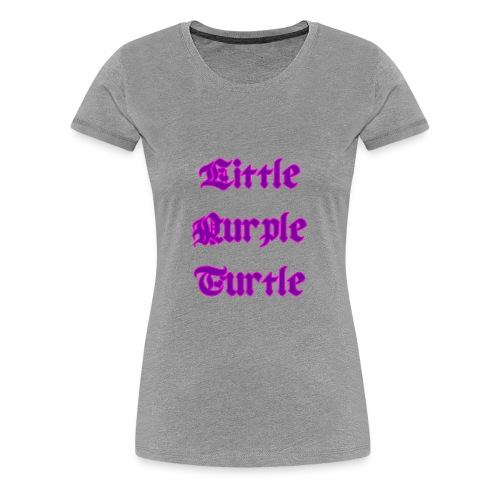 Little Purple Turtle - Women's Premium T-Shirt