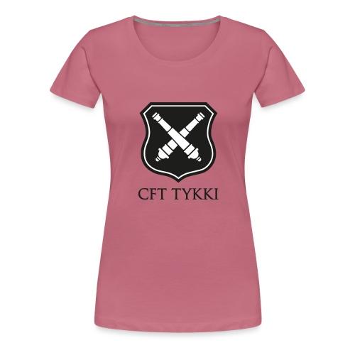 Tykki logo musta - Naisten premium t-paita