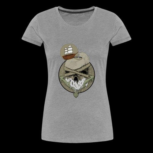 Ancre skull - T-shirt Premium Femme