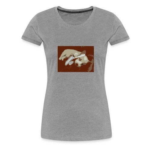 Dog speaking in phone - Premium T-skjorte for kvinner