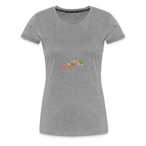 fleur - Dame premium T-shirt