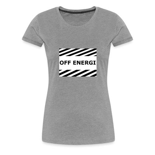 OFF ENERGI officiel merch - Premium-T-shirt dam