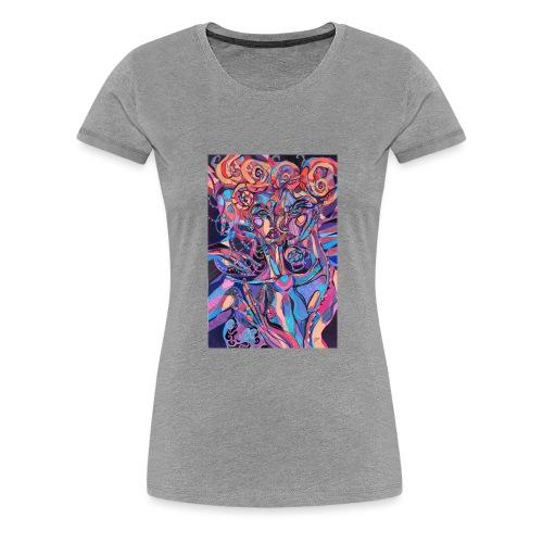 Evil Art Abstract - Women's Premium T-Shirt