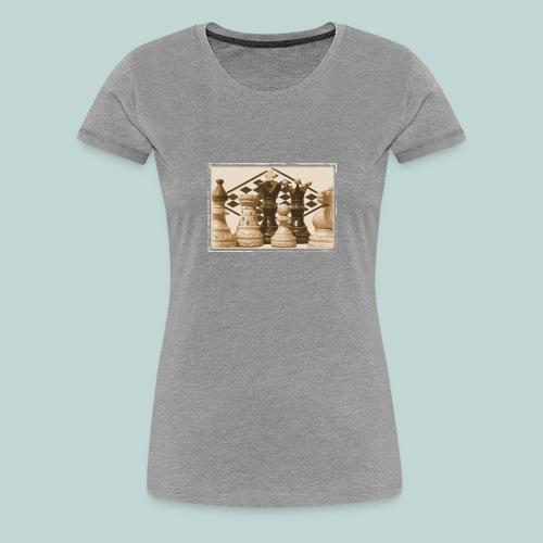 schachfiguren albumin - Frauen Premium T-Shirt
