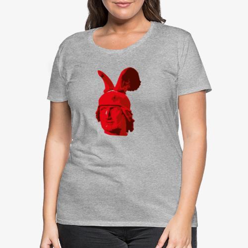Kopf des Hermannsdenkmals - Frauen Premium T-Shirt