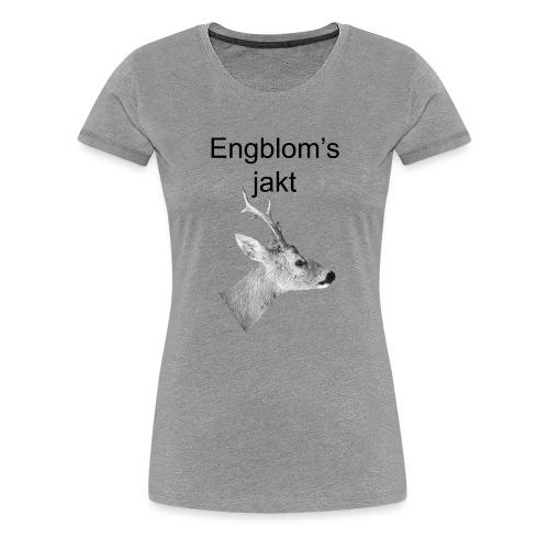 Officiell logo by Engbloms jakt - Premium-T-shirt dam