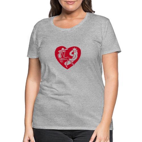 Herz - Frauen Premium T-Shirt