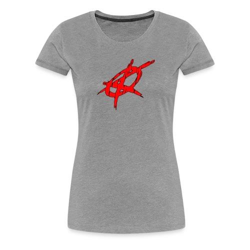 krimewave anarchy flag large - Women's Premium T-Shirt