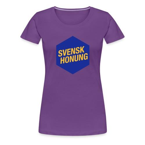Svensk honung Hexagon Blå/Gul - Premium-T-shirt dam