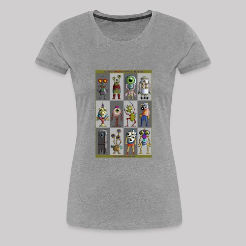 ALIEN TYPOLOGY TYPE 3: BIGEYES - T-shirt Premium Femme