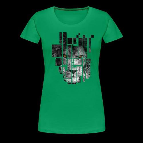 Pixel Lion Tattoo Inspire - Women's Premium T-Shirt