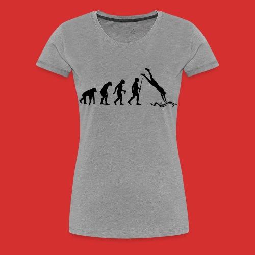 T-Shirt Cliff jumping - T-shirt Premium Femme