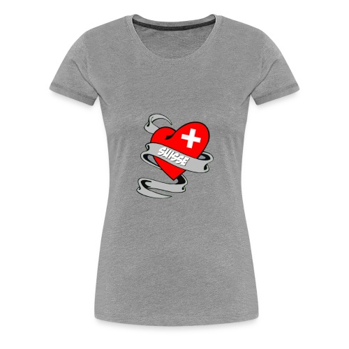 Mon coeur est pour la Suisse - Drapeau Switzerland - T-shirt Premium Femme