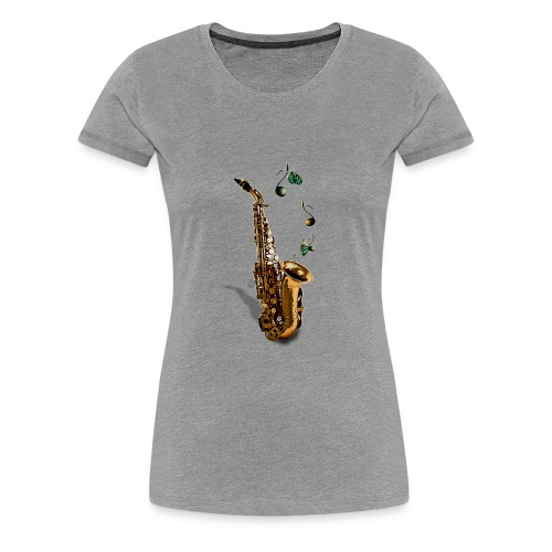 Saxophone - T-shirt Premium Femme