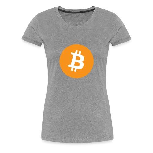 Bitcoin logo officiel - T-shirt Premium Femme